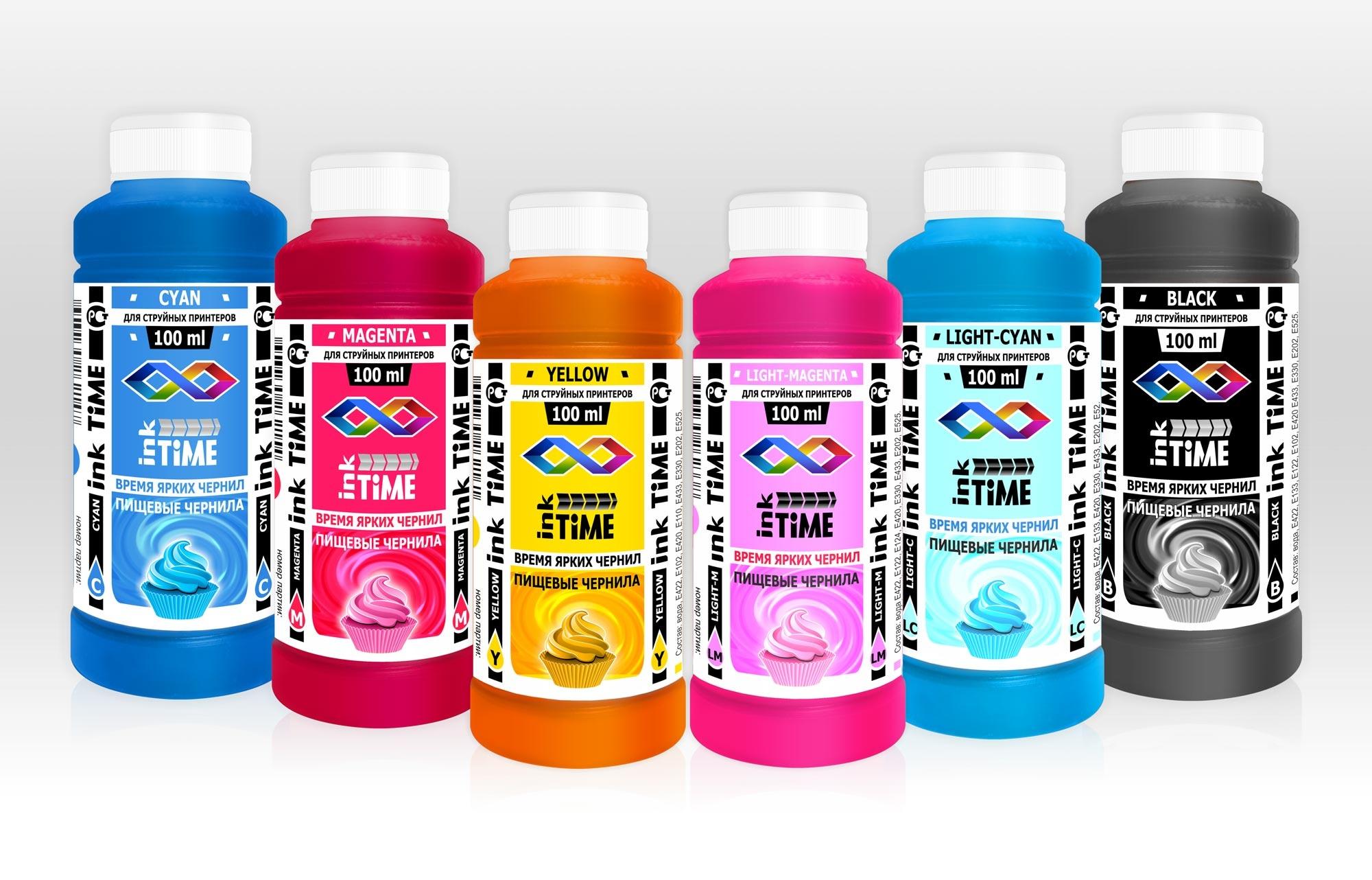Пищевые красители ink Time набор для пищевого принтера